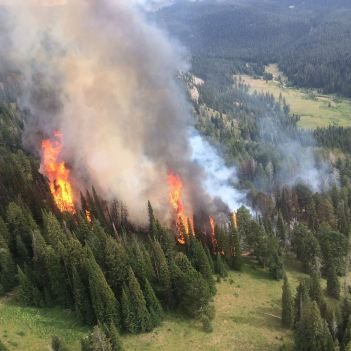 2016 Fawn Fire. Photo Credit: NPS