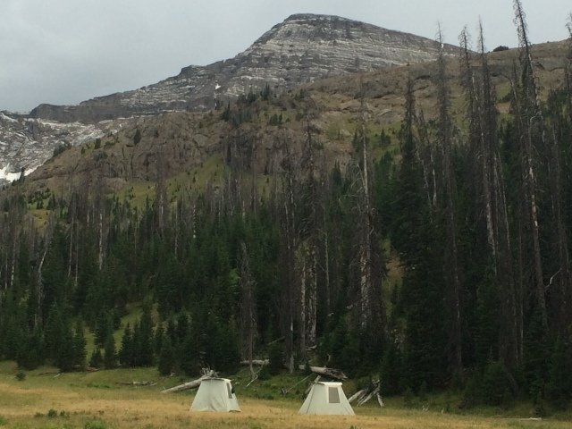 Our camp at the base of Younts Peak.
