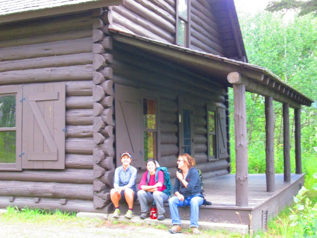 002 Glacier trip st marys ranger cabin with the girls.JPG