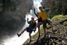 Osprey Falls. Spring pilgrimage. Yellowstone.